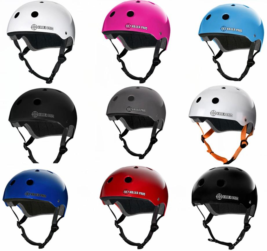 [Bắt đầu Skate Shop] 187 mũ bảo hiểm được ủy quyền đồ bảo hộ thể thao cực bảo vệ bánh răng con lăn trượt băng mũ bảo hiểm nhiều màu