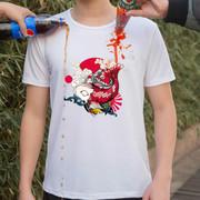 Nam ngắn tay t-shirt không thấm nước chống bẩn sáng tạo thoáng khí nano công nghệ màu đen mùa hè phần mỏng không dính nước t-shirt phiên bản lỏng lẻo