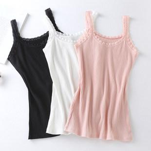 【2条装】女士打底衫小背心蕾丝吊带