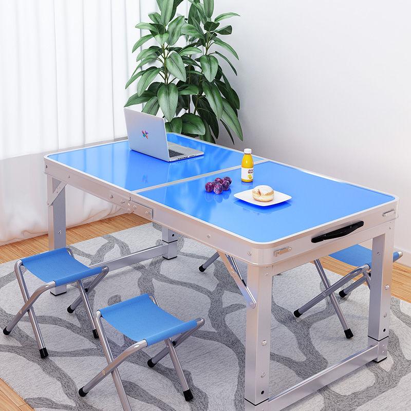捷足百货摆摊地推可折叠桌子家用餐桌便携式铝合金桌折叠桌户外