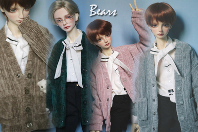 taobao agent ◆Bears◆BJD baby clothes A292 Frosted wool cardigan~4 colors into 1/4&1/3&Uncle