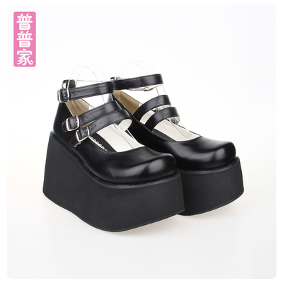 42agent Japanese Spring and Autumn COS Anime LOLITA Shoes Punk PUNK Super High-heeled Thick-bottomed Muffin Wedge Anime Shoes 9633 - Taobao