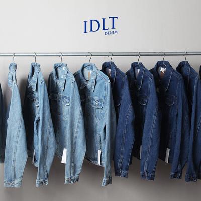 Người đàn ông sáng tạo ban đầu của nặng rửa denim mỏng áo khoác áo dụng cụ kích thước lớn Châu Âu và Hoa Kỳ đơn giản triều jeans Áo khoác
