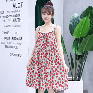 夏季睡衣女韓版寬鬆吊帶睡裙