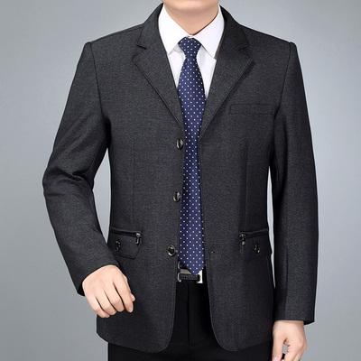 Người đàn ông trung niên áo khoác mỏng áo trung niên người đàn ông giản dị của phù hợp với làn sóng mới áo khoác mùa xuân và mùa thu cha