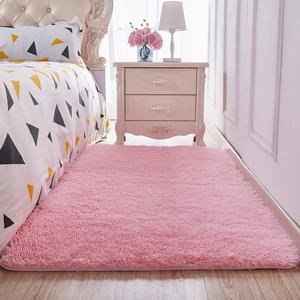 Fluff thảm phòng khách phòng ngủ phòng cô gái màu hồng công chúa cô gái có thể được tùy chỉnh hình chữ nhật đầy đủ cửa hàng dễ thương mat