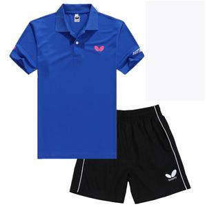 Thoáng khí chính hãng Bướm Bướm table tennis quần áo phù hợp với nam giới và phụ nữ mùa hè ngắn tay table tennis quần áo thể thao