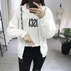 194#2018夏季新款韩版原宿bf风学生宽松短款防晒衣女班服薄外套
