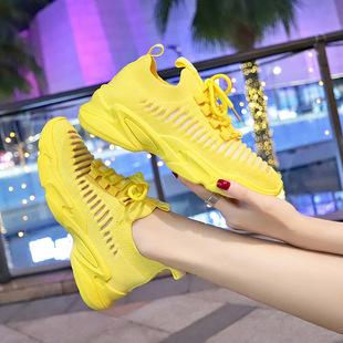 透气运动鞋女ins街拍超火休闲鞋女学生2019夏季新款百搭韩版女鞋