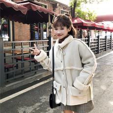 6172# 实拍 实价 秋冬新款韩版宽松两面穿加厚羊羔毛短款夹克外套