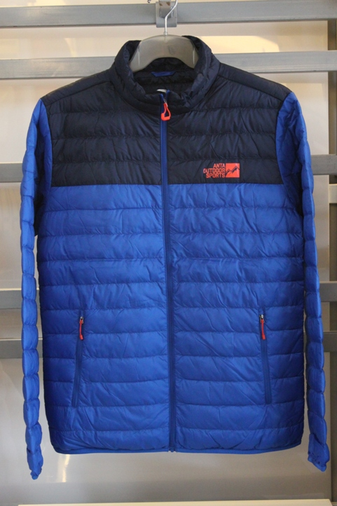 Anta đàn ông đích thực của xuống áo khoác mùa thu và mùa đông mỏng xuống áo khoác lông ánh sáng lông ấm thể thao 15546945