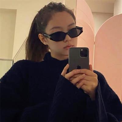 taobao agent Jennie Song Yanfei with the same sunglasses female Korean version ins net celebrity street shooting retro cat eye small frame sunglasses