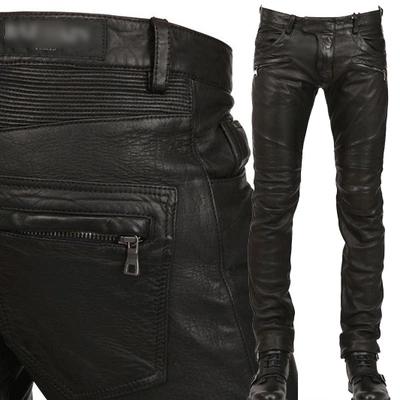 2017 mùa thu và mùa đông mới Châu Âu và Mỹ phong cách của nam giới thường đầu máy punk Slim nhỏ thẳng quần da nam quần thủy triều