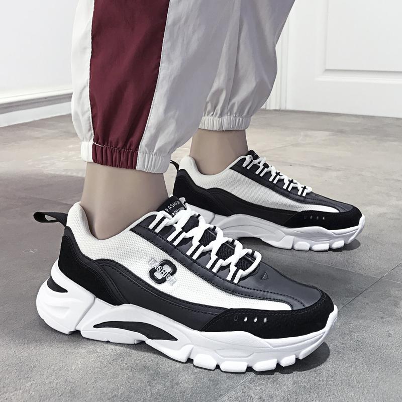男鞋夏季2020新款韓版潮流網紅老爹潮鞋男士休閑運動輕便跑步板鞋