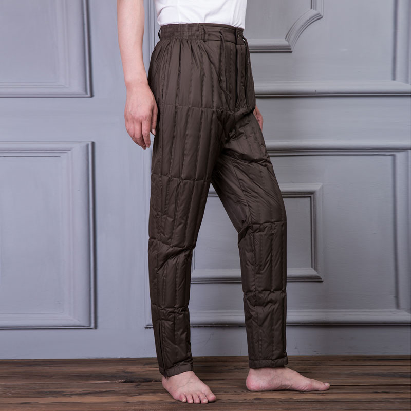 Siêu mỏng xuống quần người đàn ông mặc mỏng phần mỏng mỏng giải phóng mặt bằng đặc biệt cung cấp đàn hồi eo siêu mỏng trung niên màu trắng vịt xuống