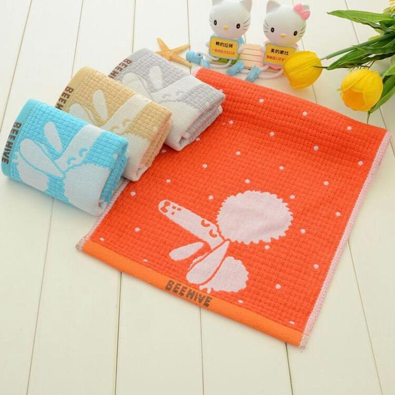 4条装双层童巾透气吸水易干纯棉洗脸毛巾小手巾儿童用小毛巾包邮