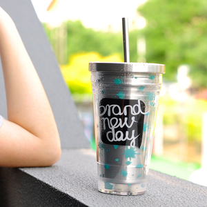 Hàn quốc thép không gỉ sippy cup dành cho người lớn văn phòng sáng tạo tay cup nam giới và phụ nữ công suất lớn cốc sinh viên