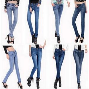 Gian hàng cung cấp bán buôn mùa xuân phụ nữ denim quần thời trang kích thước lớn là mỏng phụ nữ quần jean nhà máy sản xuất trực tiếp bán hàng