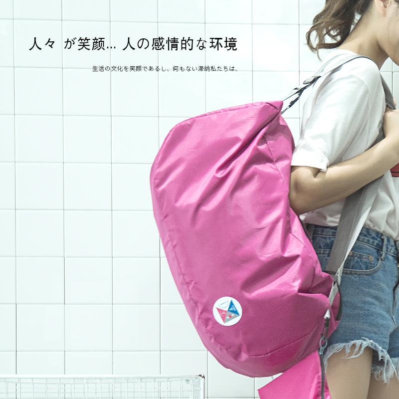 Hàn quốc phiên bản của đơn giản Oxford vải lưu trữ di động ba lô gấp ba lô túi sinh viên du lịch ba lô mua sắm túi
