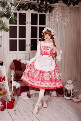 taobao agent Rose Valley Exclusive Design【Strawberry Rabbit】Detachable apron jsk dress reservation