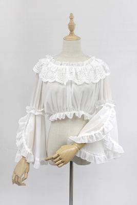taobao agent 【Agent goods】Brocade Garden 2017 long-sleeved chiffon tube top with Lolita word collar Ji sleeve bottoming shirt