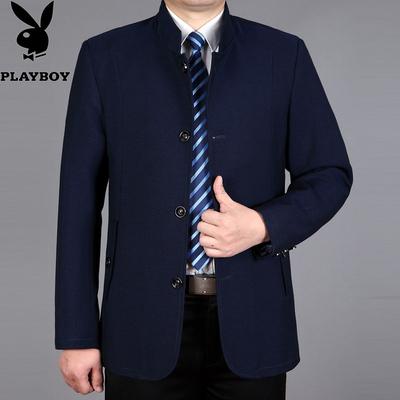 Sản phẩm mới Playboy dài áo gió nam trung niên người đàn ông mỏng của mùa xuân và mùa thu kinh doanh bình thường daddy coat Áo gió