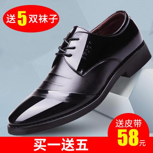 Мужской бизнес официальная одежда черный проникновение газ кожаная обувь мужчина случайный волна лето корейский англия наконечник красные розы мужская обувь сын
