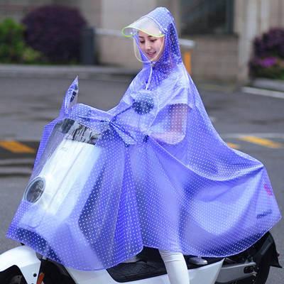 电动电瓶车雨衣单人成人加大加厚透明全身防暴雨骑行男女防水雨披