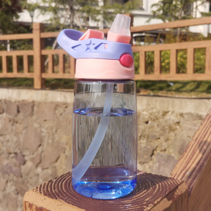 儿童水杯宝宝吸管杯小学生杯防摔家用幼儿园男女童便携水壶塑料杯