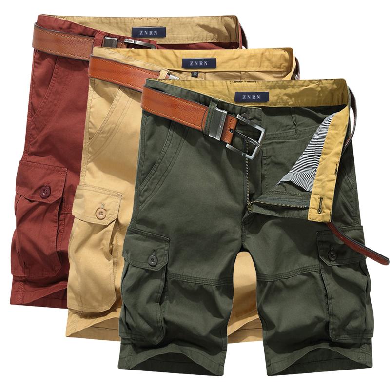 2018 mùa hè nam cotton 5 năm quần đa túi lỏng kích thước lớn quần thanh niên dụng cụ quần short ống túm thủy triều