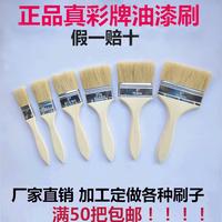 Кисть-щетка для волос промышленная правда цвет Марка 1 дюйм 2 дюйма 3 дюйма 4 дюйма 8 дюймов Барбекю Мягкие волосы Клей Свинья Щетка для волос