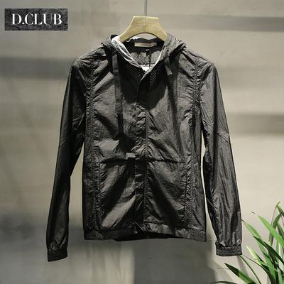 DCLUB 2018 gốc ultra-mỏng quần áo chống nắng nam mùa hè lưới thoáng khí trùm đầu áo khoác da quần áo Áo khoác