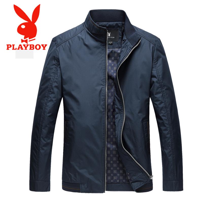 Playboy 2018 mới người đàn ông trung niên áo khoác áo khoác cha mặc giản dị mùa xuân và mùa thu áo khoác phần mỏng áo mùa xuân