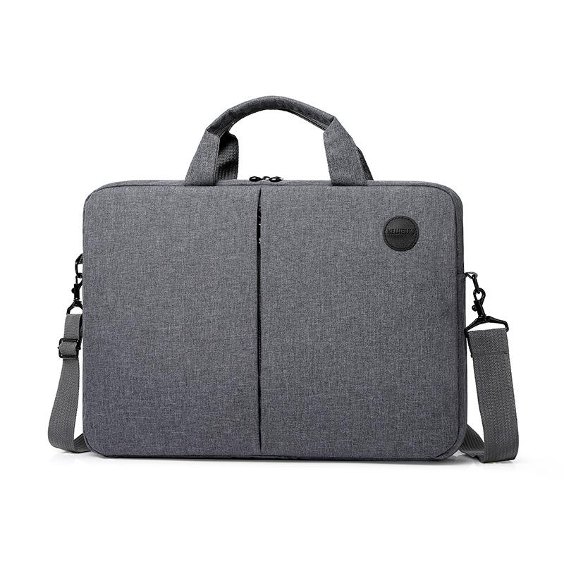 秋冬新款单肩手提包公文包男女商务休闲款笔记本手提包15.6寸电脑