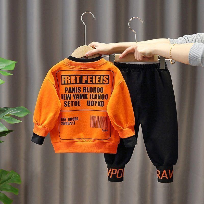 男童秋装儿童套装2020新款男孩时尚撞色两件套男宝宝网红休闲裤秋