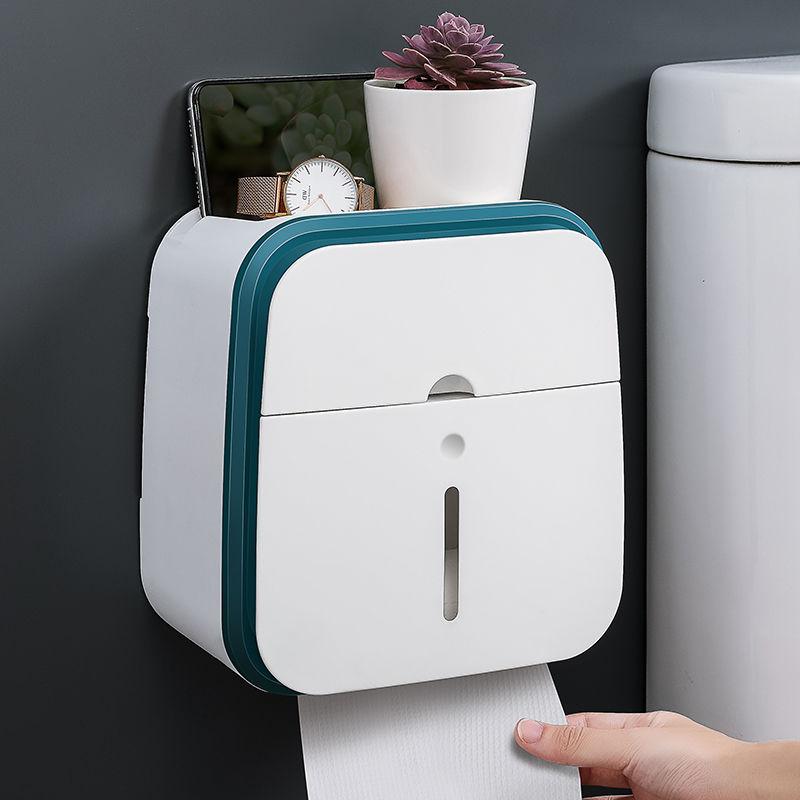 卫生间免打孔纸巾盒厕所卫生纸置物架