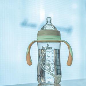 新生婴儿奶瓶防摔宽口径鸭嘴断奶防胀气硅胶吸管刷pp水杯宝宝用品