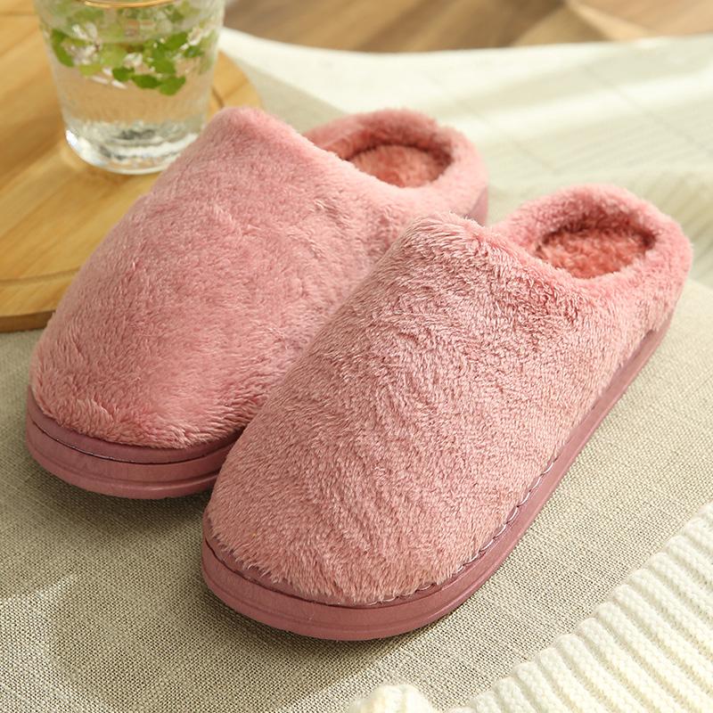 秋冬季棉拖鞋女居家室内可爱男毛绒厚底防滑情侣冬天家用家居包跟