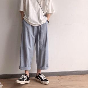 工装裤男女宽松韩版潮男裤子bf阔腿