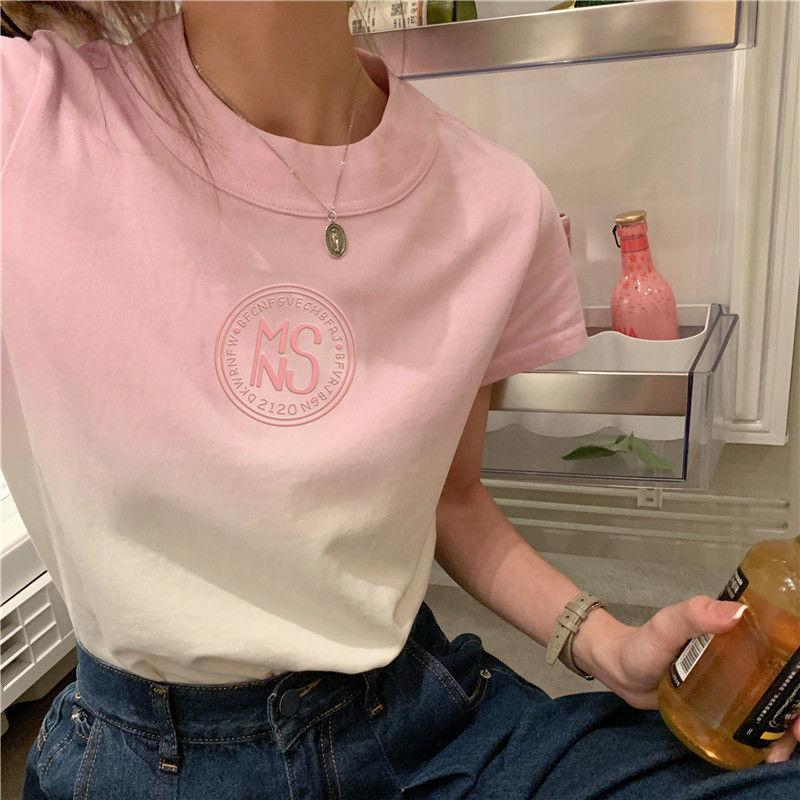 扎染短袖T恤女夏季2021新款设计感