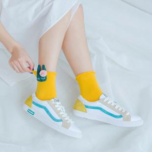 【3双装】韩国甜美可爱兔子小熊袜子女
