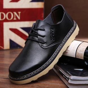 春季新款软皮鞋英伦工装鞋防滑