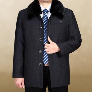 Trung niên và cũ bông quần áo nam mùa đông dày áo của nam giới cơ thể đặc biệt cộng với phân bón XL nam quần áo ông già cotton coat cha