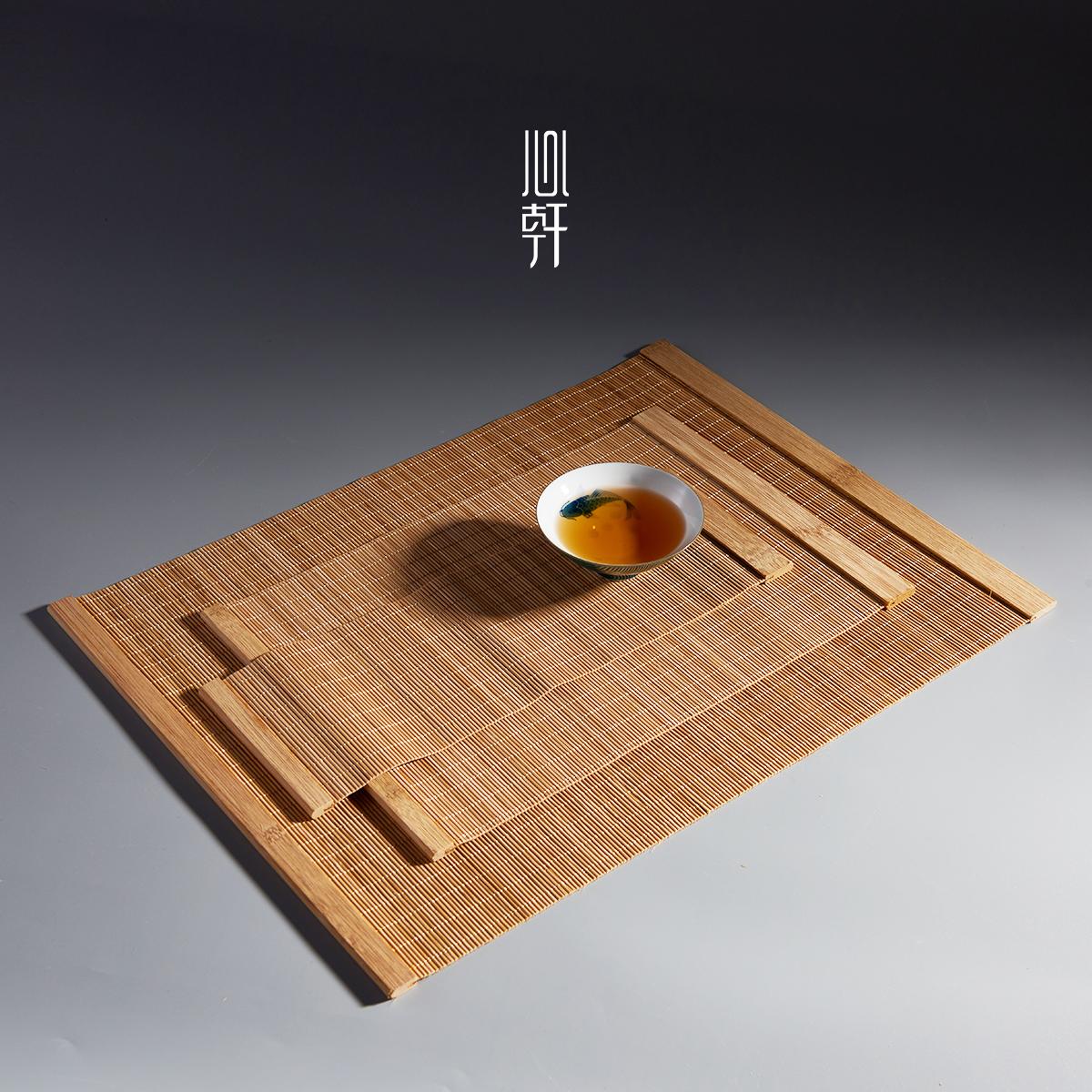 Xinxuan bộ trà trà mat coaster linen bảng cờ dệt handmade tre rèm tre mat tre mat trà mat trà rèm cách nhiệt mat
