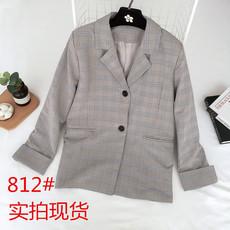 韩国2018春秋新款韩版小西装女中长款西服长袖百搭显瘦简约外套女