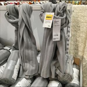 IKEA trong nước mua Witt Mossa chăn giản dị mái tóc màu xám chăn chăn ngủ trưa chăn