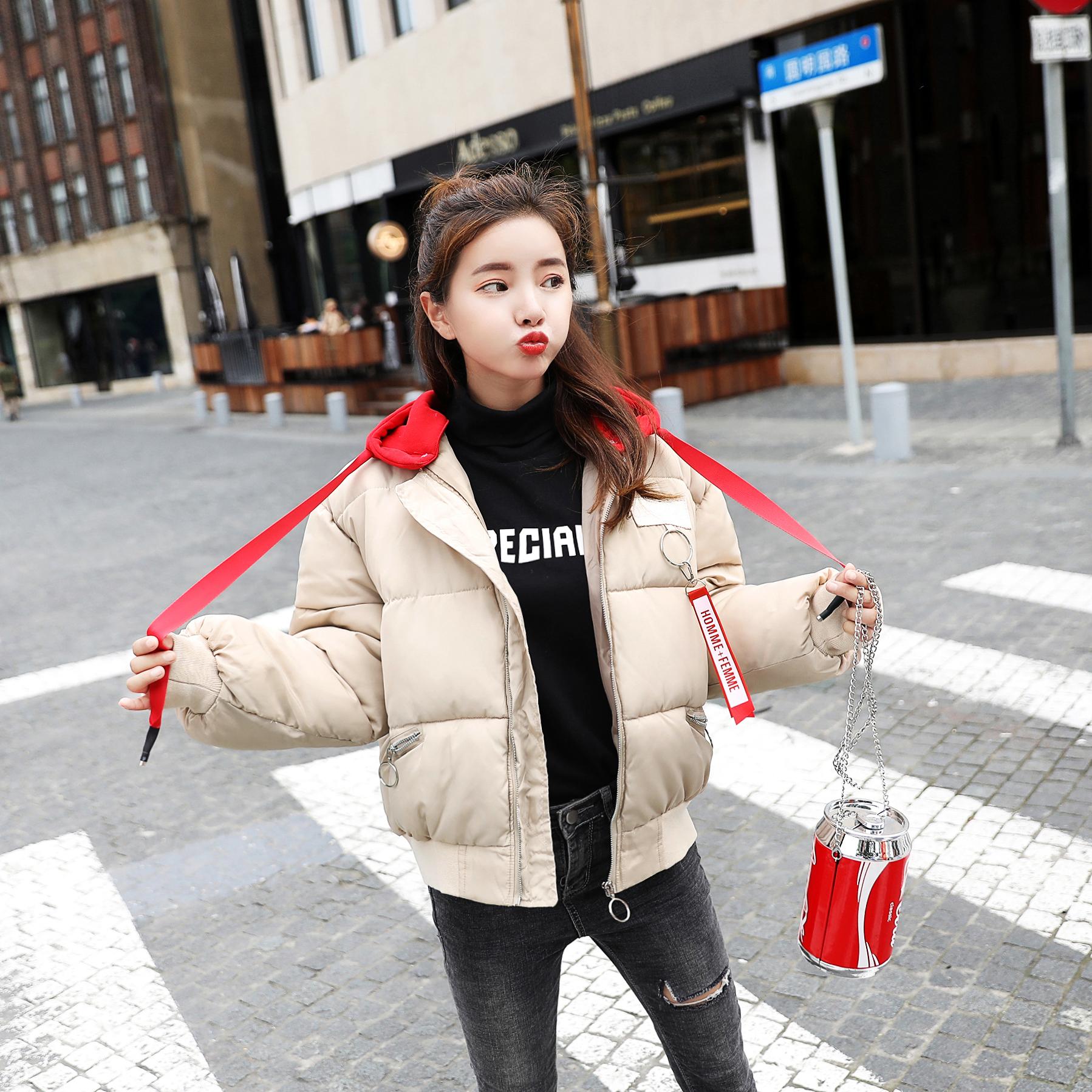 Bông chăn nữ 2018 bánh mì mới phục vụ sinh viên Hàn Quốc phiên bản của bông đoạn ngắn dày lỏng chống mùa xuống bông áo