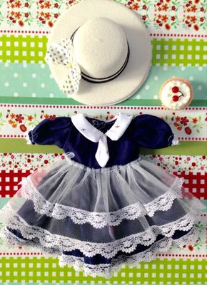 taobao agent 【2 sets of free shipping】bjd baby clothes 6 points 4 points dress yosd1/6 small cloth small navy dress giant baby