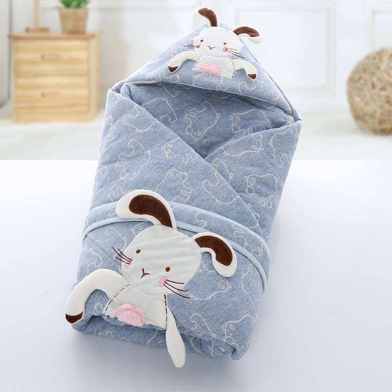 初生婴儿抱被宝宝抱毯新生儿纯棉包被秋冬加厚保暖包巾春秋被子冬