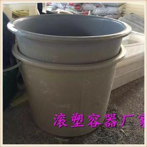 [Thùng nhựa quay] 500L loại thực phẩm dày loại tròn Chất liệu PE không xấu gân thịt bò thùng 0,5m3 - Thiết bị nước / Bình chứa nước